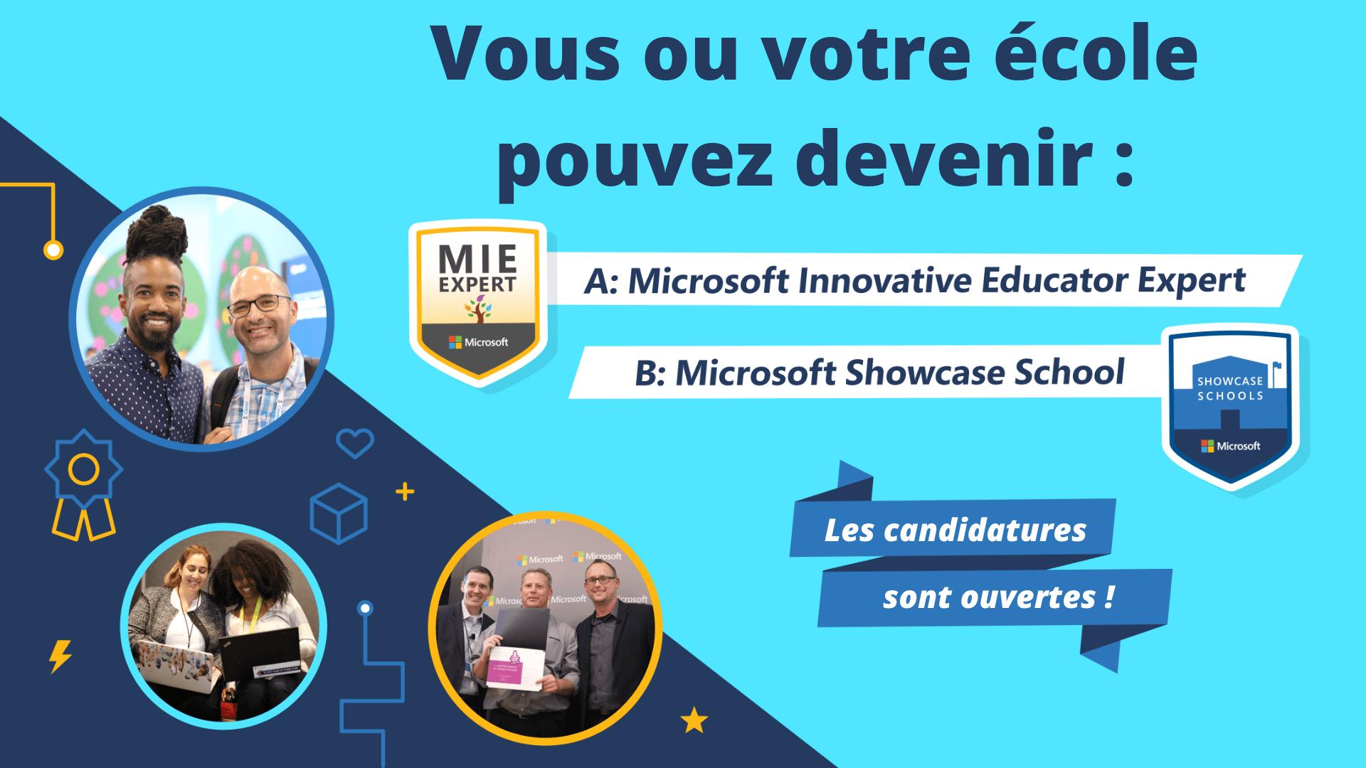Ouverture des candidatures Microsoft Innovative Educator Expert 2021-2022